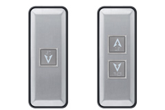 satin stainless steel floor push buttons